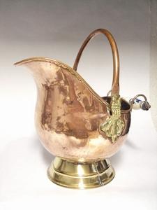 2942  Koperen Helm kit  O 18 x 23 cm