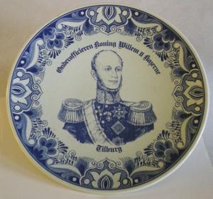 3094  Wandbord OO mess Koning Willem II Kaz. Tilburg  29,5 cm